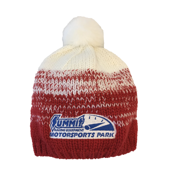 a8d099790af500 RED AND WHITE KNIT BEANIE – Quarter Mile Clothing Company