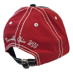 NAVY & RED TWILL ADJUSTABLE HAT
