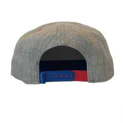 GRAY & ROYAL FLAT BILL ADJUSTABLE HAT